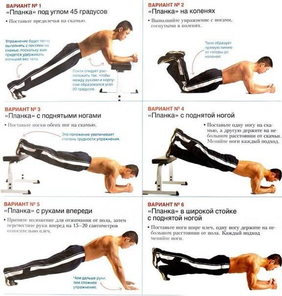 11 лучших вариантов упражнения планка для похудения и развития мышц пресса