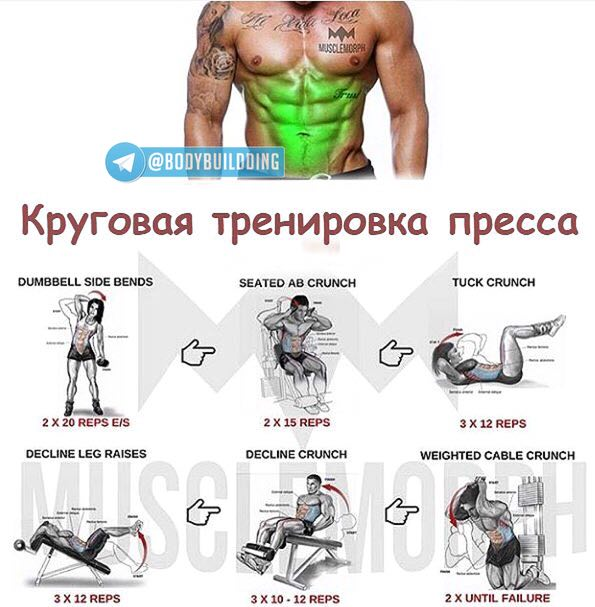 Эффективный комплекс упражнений на развитие пресса для мужчин | rulebody.ru — правила тела