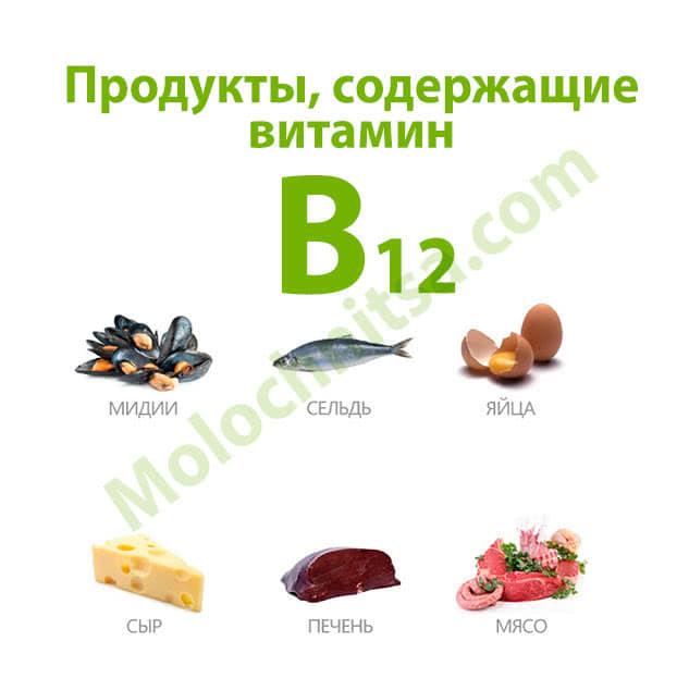 Витамин в12 - почему необходим и где содержится
