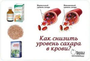 Как снизить сахар в крови быстро народными средствами
