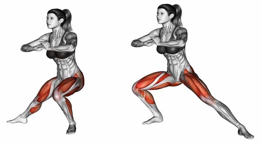 Какие мышцы работают при приседании?