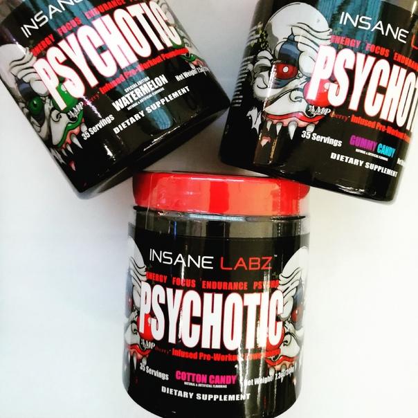 Предтренировочный комплекс психотик (psychotic) от insane labz