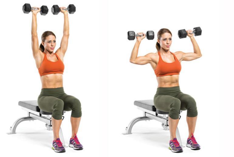 Жим гантелей сидя: развиваем плечи в кротчайшие сроки