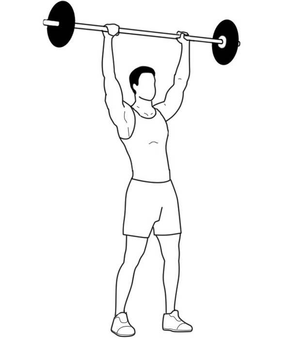 Жим штанги с груди стоя —пошаговая техника правильного выполнения