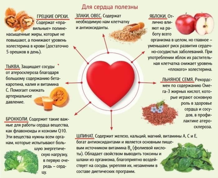 Какие продукты и элементы полезны для сердца и сосудов?