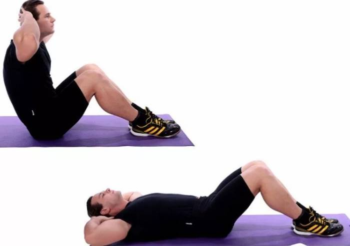 Подъемы согнутых ног в висе (коленей)