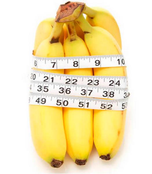Посчитаем калорийность банана, банановая диета