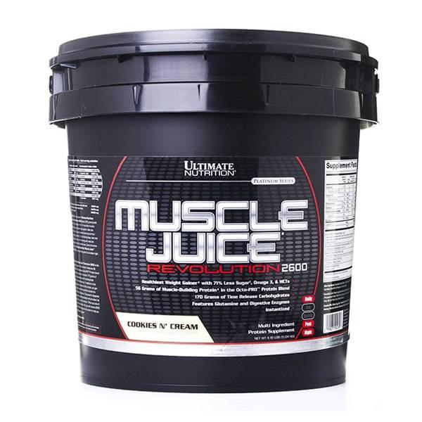 Калорийность гейнер ultimate muscle juice revolution 2600 [спортивное и дополнительное питание]. химический состав и пищевая ценность