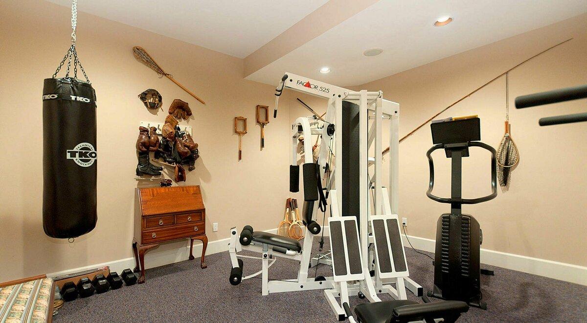 Тренажерный зал дома. чем оборудовать домашний спорт зал?