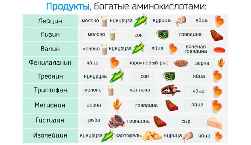 Незаменимые аминокислоты: описание, роль, польза, продукты