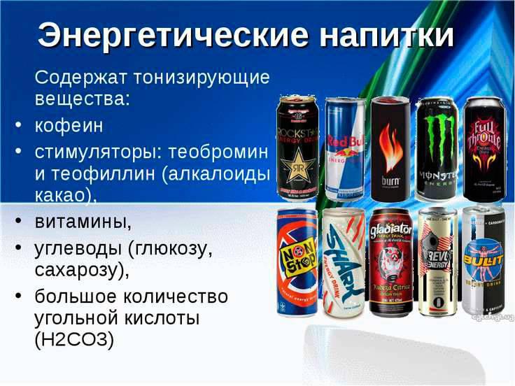 Энергетические напитки - вред или польза