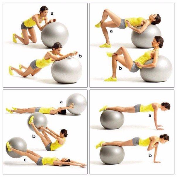 Фитбол для похудения: эффективность, особенности, упражнения, где купить фитбол
