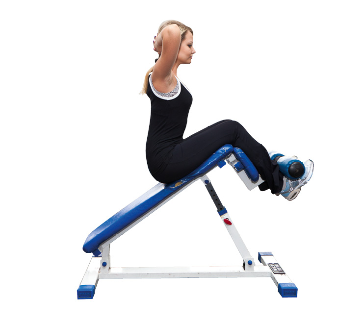 Упражнение скручивания на тренажере. тренировки для укрепления пресса