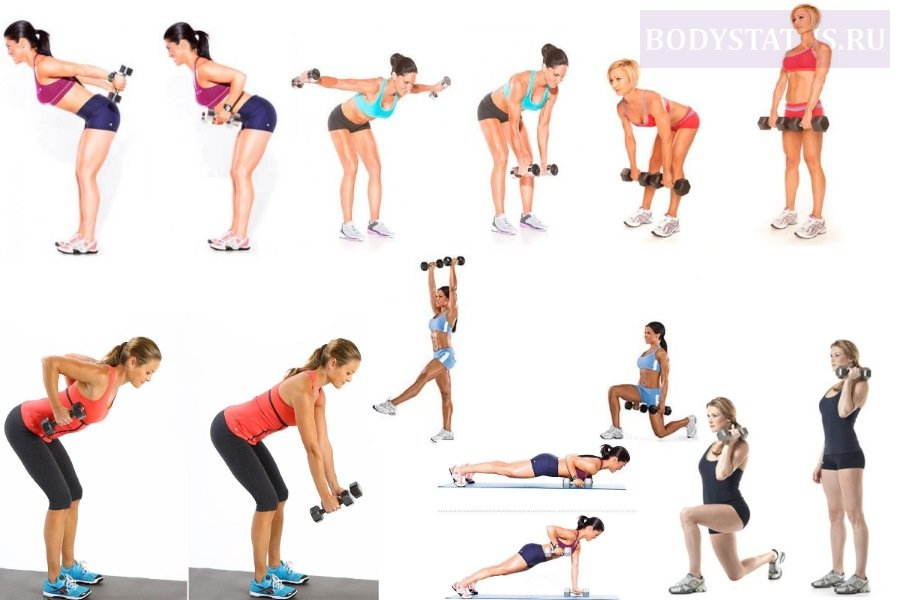 Комплекс упражнения с гантелями для девушек и женщин