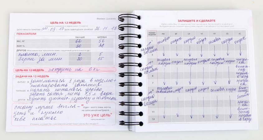 Дневник тренировок в тренажёрном зале | бомба тело