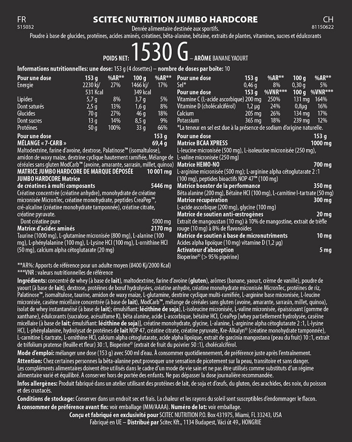 Scitec nutrition jumbo pack – обзор добавки