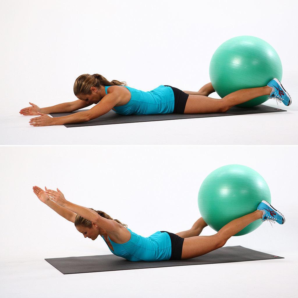 Упражнения для позвоночника на гимнастическом мяче: правила выполнения и виды