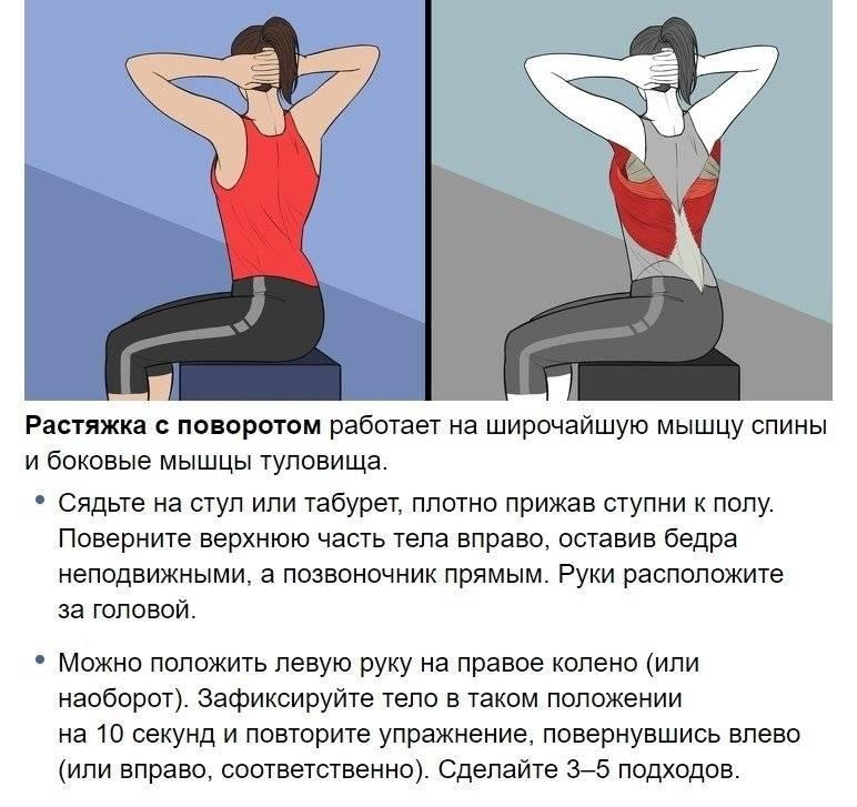 Упражнения для растяжки | лучшие в рунете с картинками