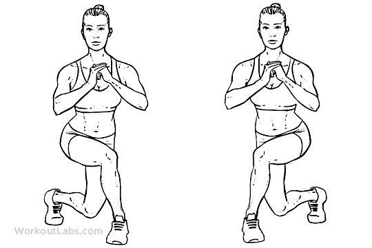 Укрепление мышц с помощью выпадов