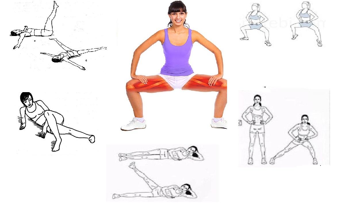 Эффективные упражнения для похудения внутренней части бедра: тренировки в домашних условиях