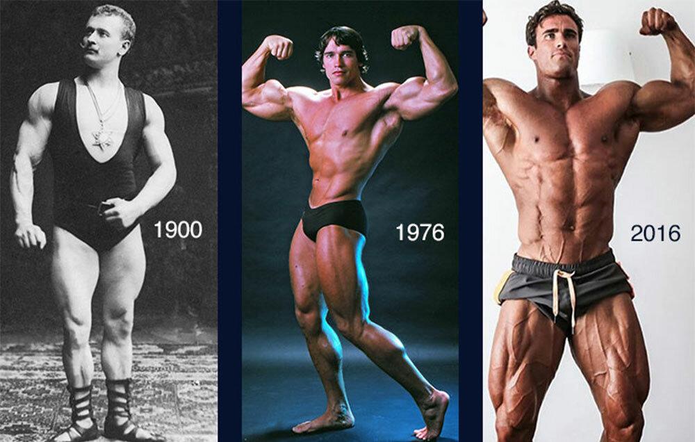 Бодибилдинг. краткая история. как изменились спортсмены за последние 120 лет?