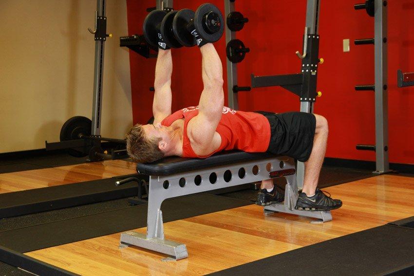 В чём разница между горизонтальным и наклонным жимом гантелей на скамье, техника выполнения этих упражнений