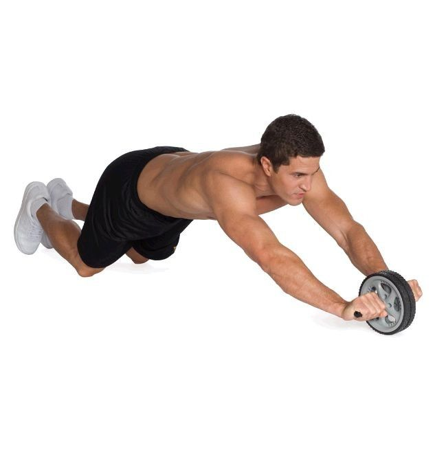 Упражнения с колесом для пресса, гимнастический ролик - видео и фото