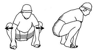 Почему болит колено при приседании на корточки