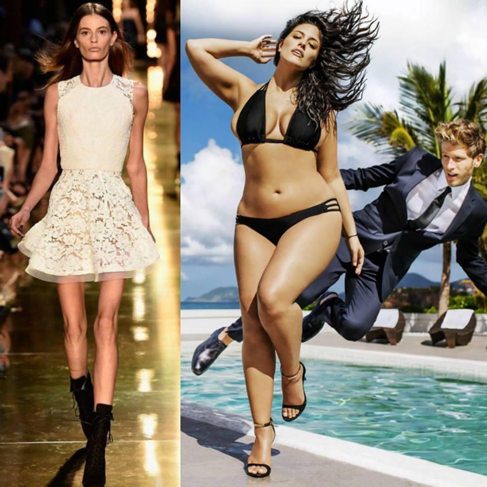 """""""слишком толстые"""" для подиума: худощавые модели, которых назвали полными"""