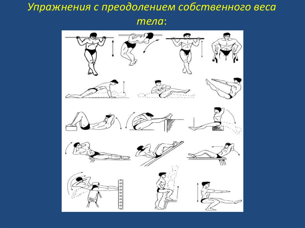 Воркаут или программа тренировок с собственным весом