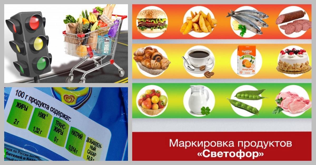 Три цвета: продуктовый «светофор» поможет отличить полезную еду от вредной