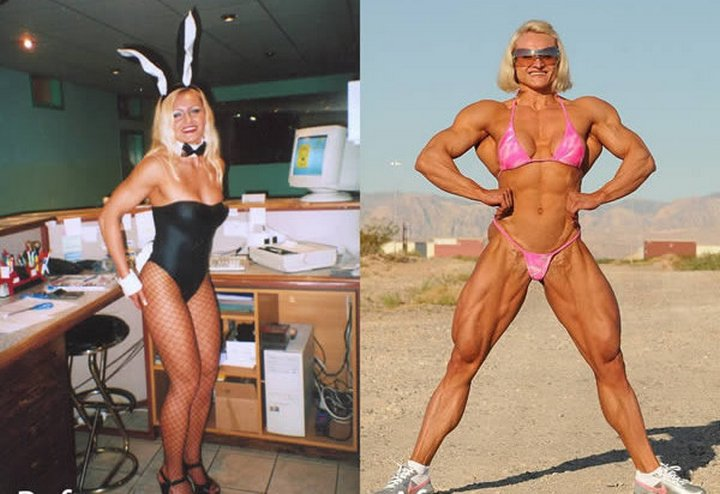 Бодибилдерша: фото до и после