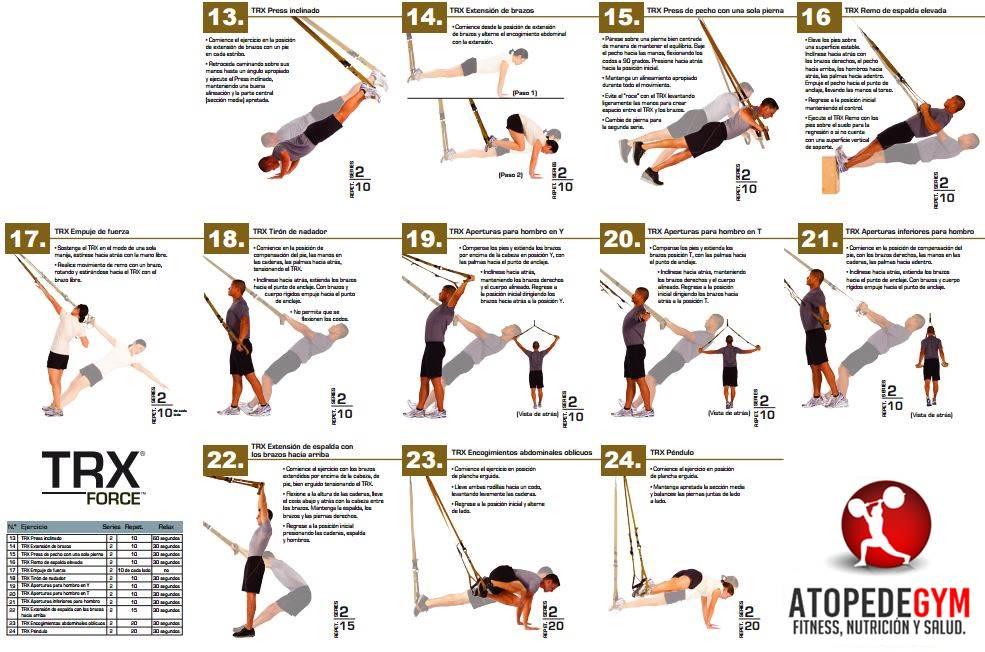 » упражнения на trx петлях для похудения
