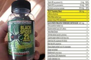 Эффект применения, побочные эффекты и схема приема сжигателя black spider