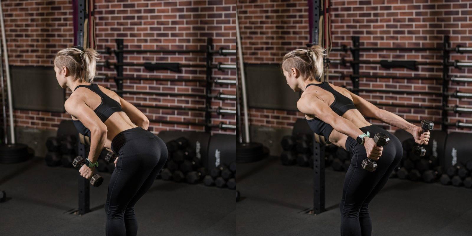 Разгибание рук в наклоне:варианты упражнения+техника выполнения