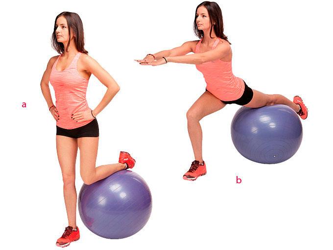 Топ самых лучших упражнений на мяче для похудения