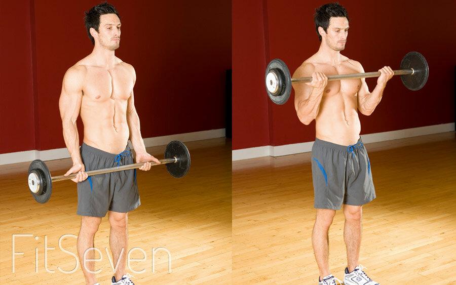Подъем штанги на бицепс стоя: задействованные мышцы, польза, правильная техника