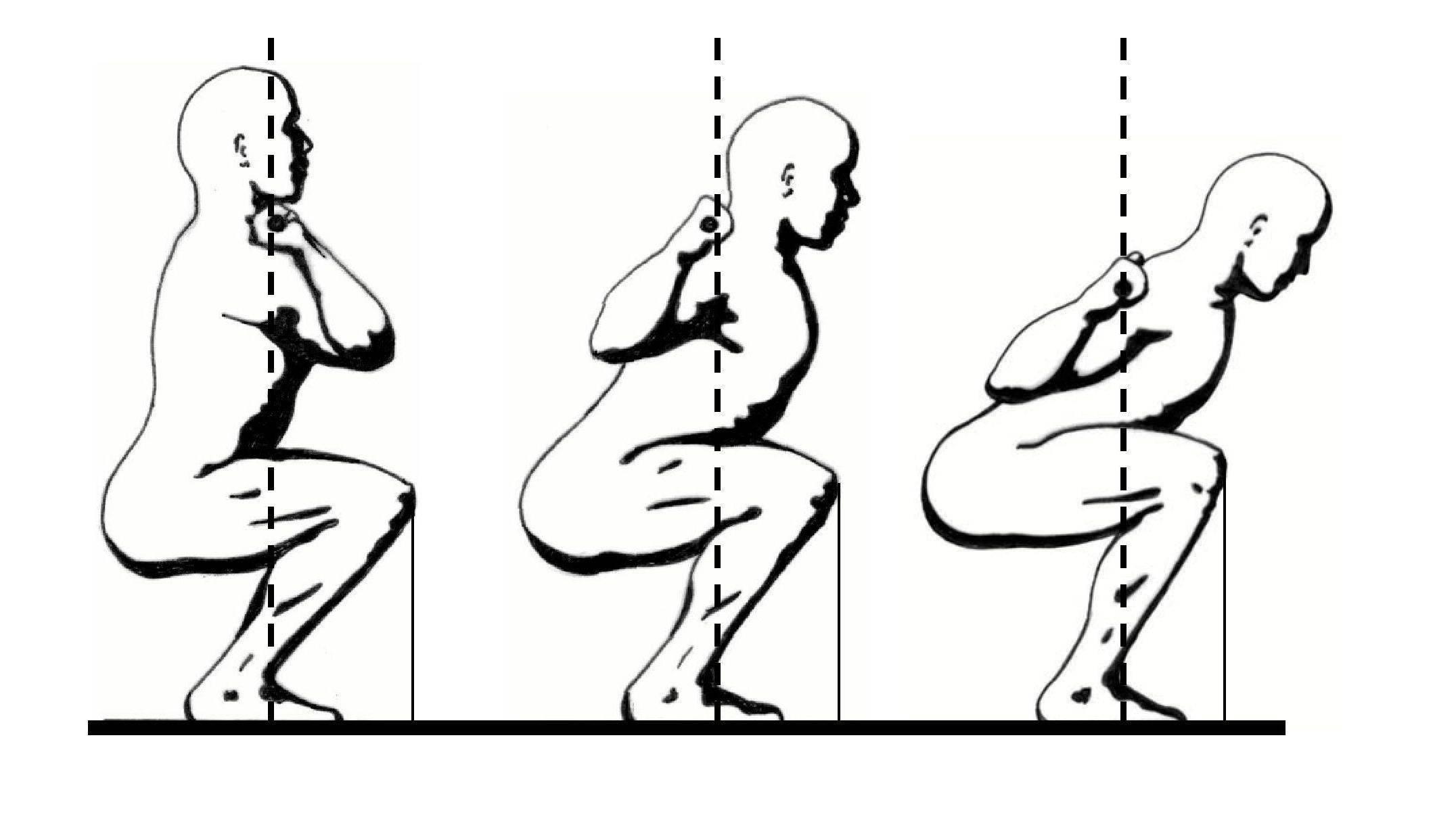 Приседания со штангой: техника выполнения, какие мышцы работают