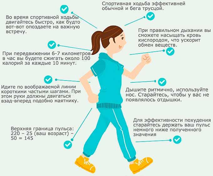 Техника спортивной ходьбы: как правильно