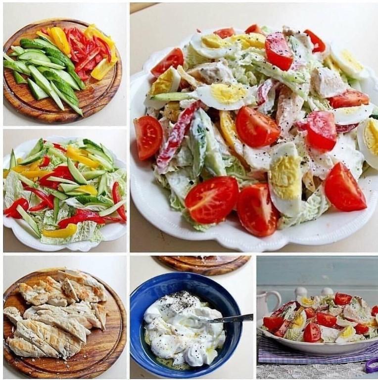 Диетические салаты: рецепты для похудения, простые из овощей, без майонеза