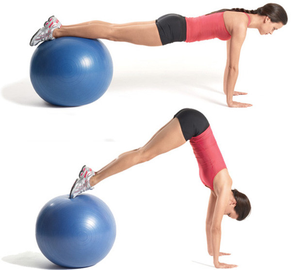 Упражнения на фитболе для похудения живота и боков, бедер и ног
