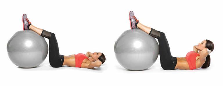 Лучшие упражнения на пресс с фитболом — тренировки для улучшения осанки