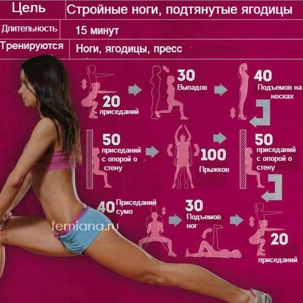 10 эффективных упражнений для ягодиц и бедер: красивая форма попы и похудение в домашних условиях