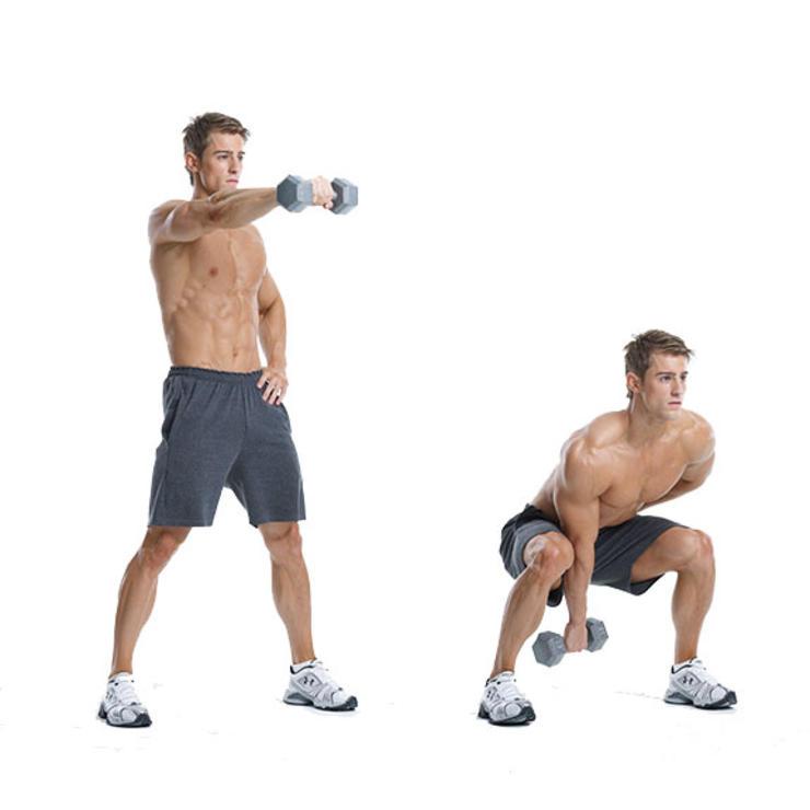 Упражнения с гантелями для женщин и мужчин в домашних условиях: группы лучших комплексов, эффективные программы, картинки, видео