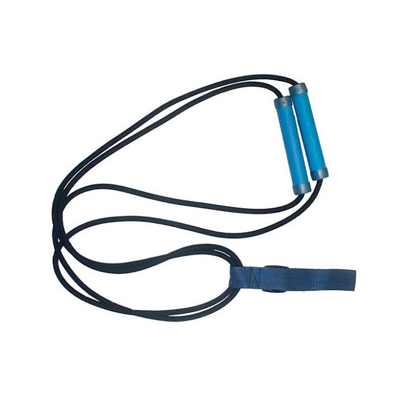 Комплекс упражнений с эспандером лыжника— резиновый шнур с ручками на обоих концах