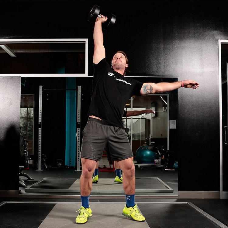 Жимовой швунг гантелей: польза и техника выполнения упражнения