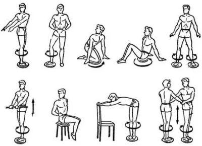 Упражнения для похудения на диске здоровья