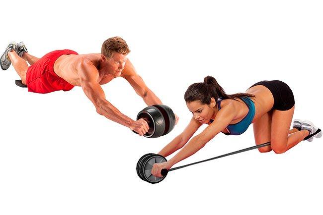 Ролик для пресса упражнения для начинающих и опытных