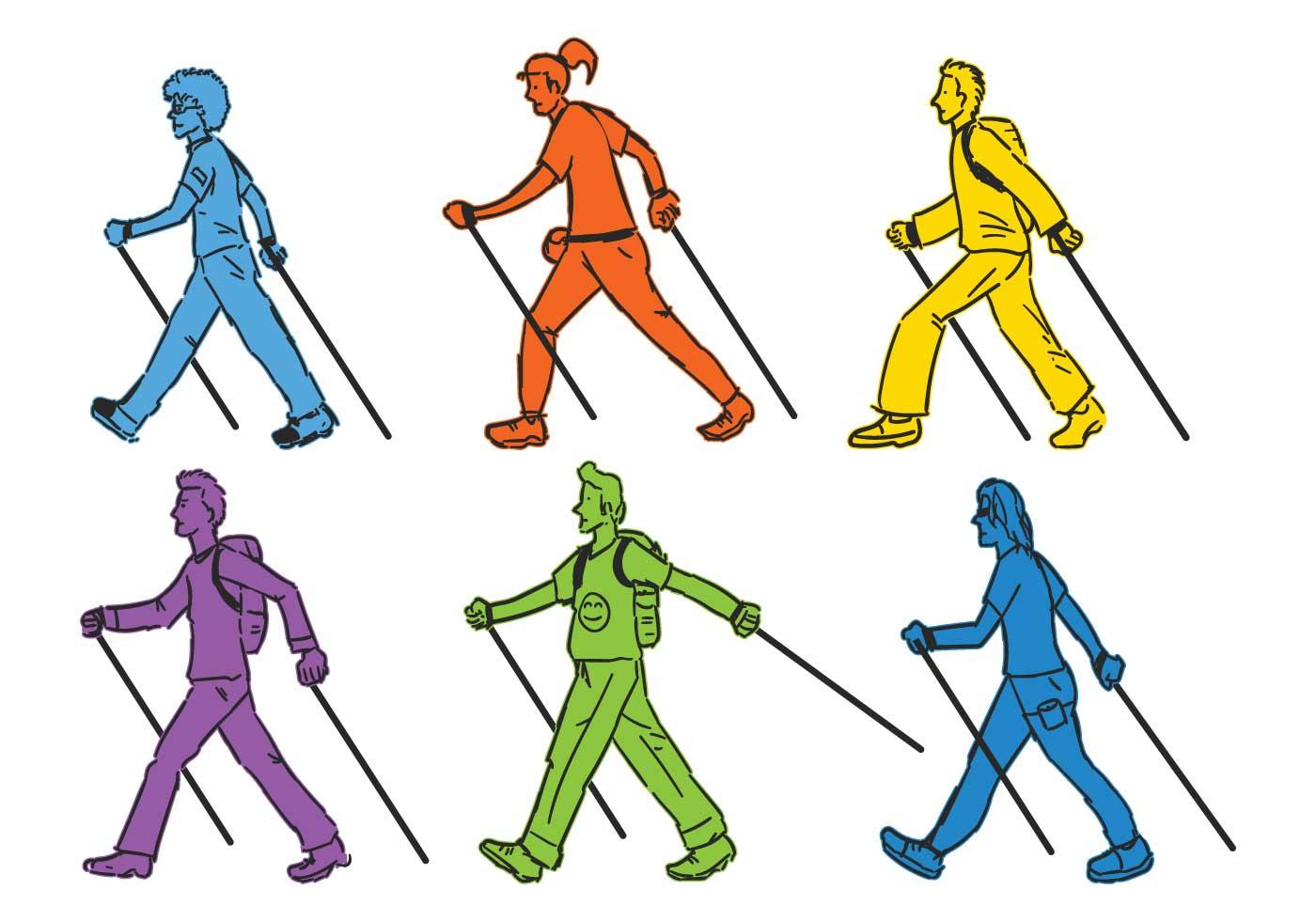 Как подобрать палки для скандинавской ходьбы по росту (по таблице)