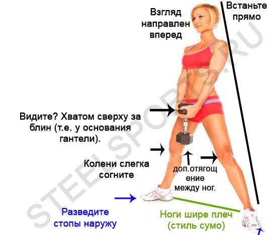 Варианты приседаний с гантелями для мужчин и девушек | rulebody.ru — правила тела